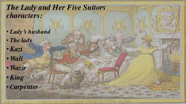 The lady and her five suitors