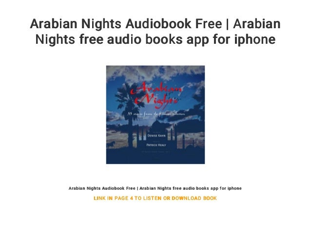 Arabian Nights Audiobook Free | Arabian Nights free audio books app f…