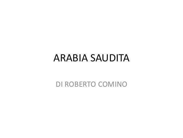 ARABIA SAUDITA DI ROBERTO COMINO