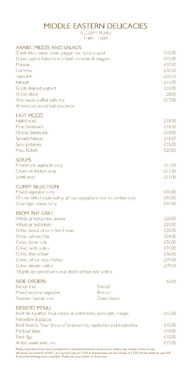 Please note that all our food is prepared in centralised kitchens. Some of our dishes may contain traces of nuts All price...