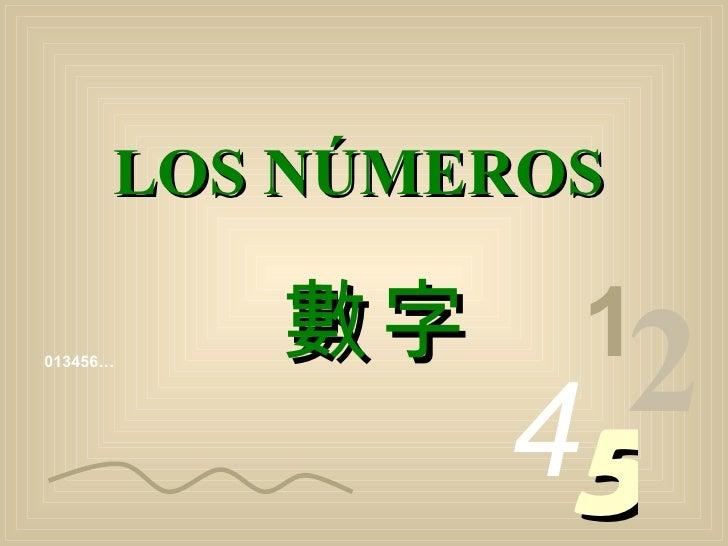 013456… 1 2 4 5 LOS NÚMEROS 數字