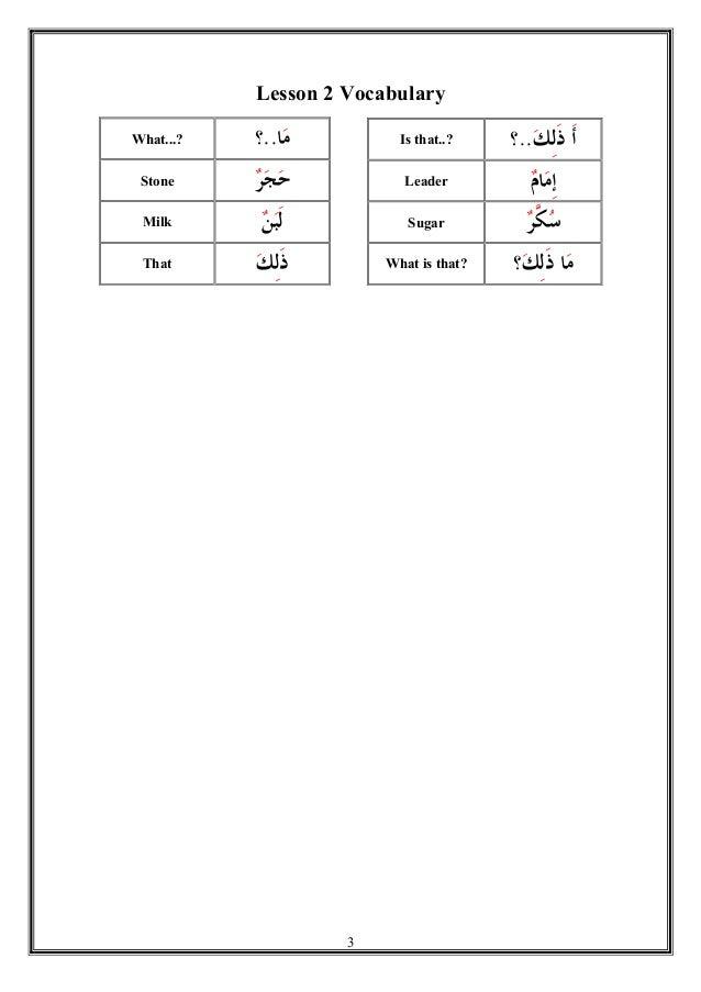 MADINAH ARABIC -  Vocabulary Bank Slide 3