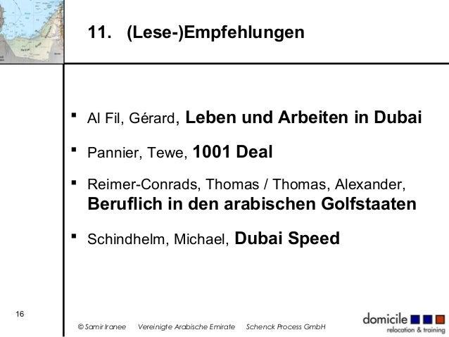 11. (Lese-)Empfehlungen   Al Fil, Gérard, Leben und Arbeiten in Dubai  Pannier, Tewe, 1001 Deal  Reimer-Conrads, Thomas...