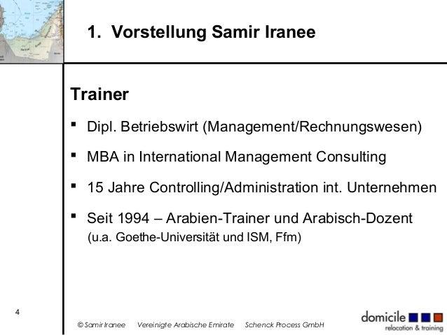 1. Vorstellung Samir Iranee Trainer  Dipl. Betriebswirt (Management/Rechnungswesen)  MBA in International Management Con...