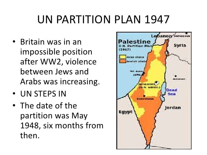 CIVIL WAR IN PALESTINE• Began May 1948 ended July.• Arab league could not match the strength of  the Jews.• A series of ar...