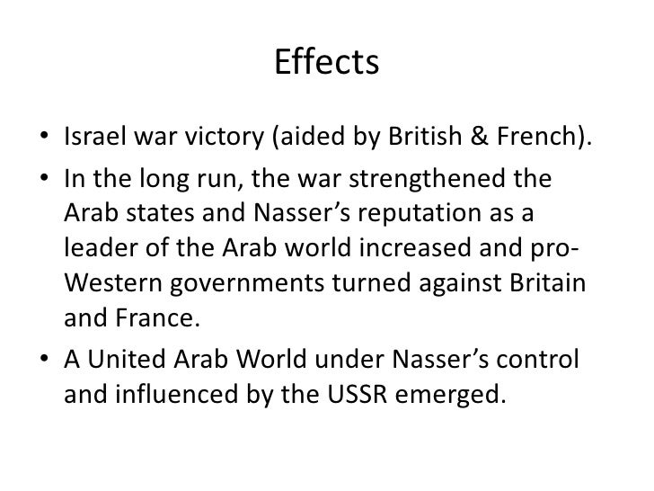 TRIGGERS• Soviets provided false information about Israeli  mobilisation.• Nasser put Egypt's armed forces on alert and  m...