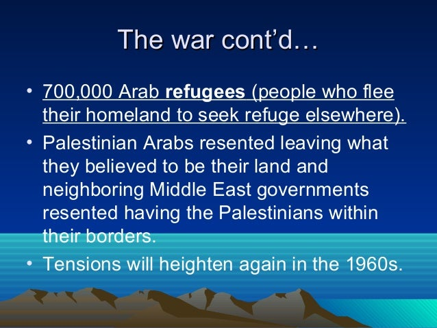 the arab israeli conflict definitions The plan offered an end to the arab-israeli conflict, including recognition of israel, peace agreements and normal relations with all the arab states.