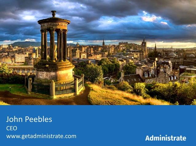 John Peebles CEO www.getadministrate.com