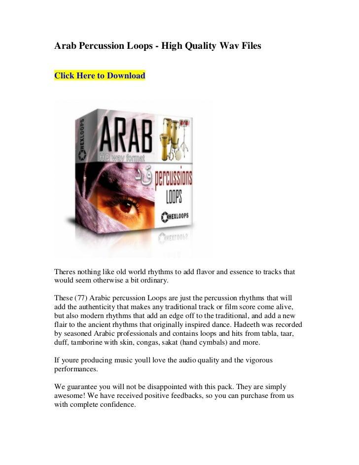 .WAV SAMPLE CD ARABIAN PERCUSSION LOOPS