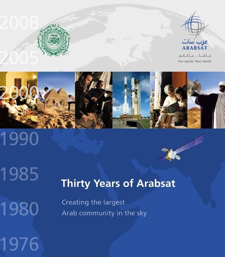 2008 2005 2000  1990 1985   Thirty Years of Arabsat  1980        Creating the largest        Arab community in the sky    ...
