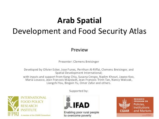 Arab SpatialDevelopment and Food Security Atlas                                     Preview                            Pre...