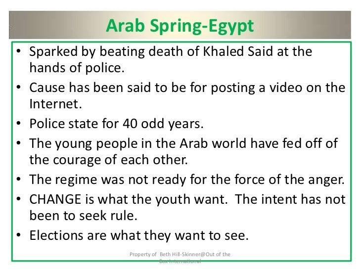 arab spring causes