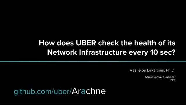 Arachne: How does Uber check the health of its Network Infrastructure every 10 seconds? Slide 1