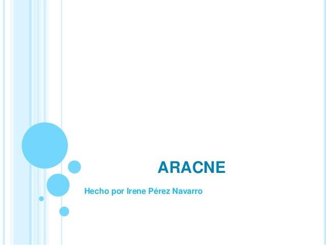 ARACNE Hecho por Irene Pérez Navarro