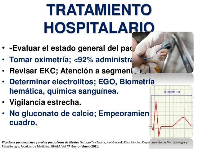 TRATAMIENTO HOSPITALARIO • -Evaluar el estado general del paciente. • Tomar oximetría; <92% administrar oxigeno. • Revisar...