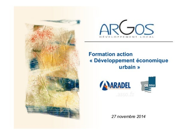 Formation action « Développement économique urbain » 27 novembre 2014