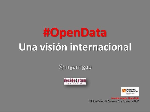 #OpenDataUna visión internacional        @mgarrigap                                         Jornada Aragón Open Data      ...