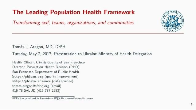The Leading Population Health Framework