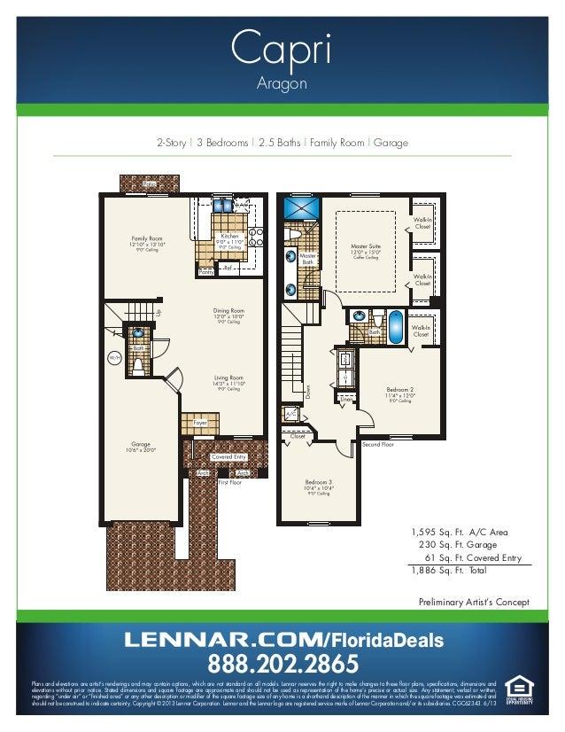 Aragon By Lennar Homes Town Home Floorplans
