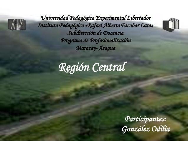Universidad Pedagógica Experimental LibertadorInstituto Pedagógico «Rafael Alberto Escobar Lara»             Subdirección ...