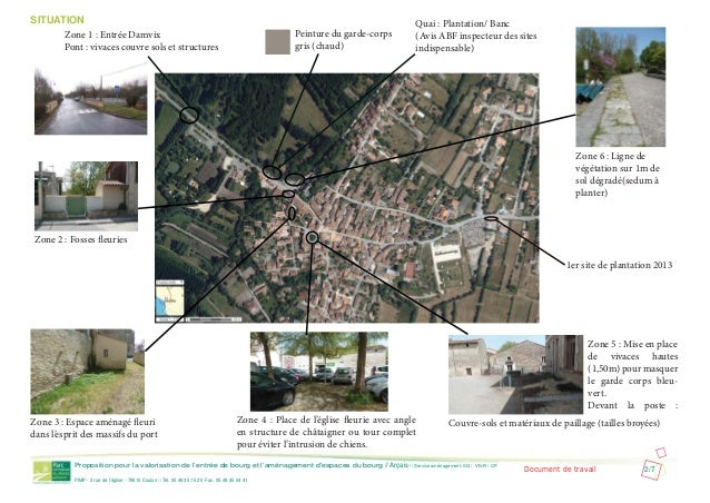 Proposition pour la valorisation de l'entrée de bourg et l'aménagement d'espaces du bourg // Arçais // Service aménagement...