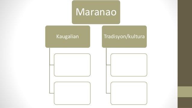 Kaugalian Tradisyon/kultura Maranao