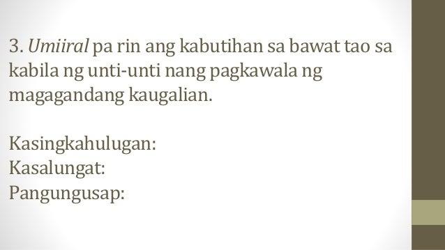 4. Bawat alituntunin ay ginawa para sa kapakanan ng tao na hindi lang para pagbawalan tayo kung hindi para malayo tayo sa ...