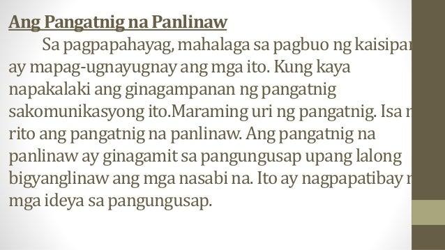 Gawain: Dugtungan ang mga parirala/pangungusap sa ibaba sa pamamagitan ng paggamit ng mga pangatnig na panlinaw. 1. Si Sub...