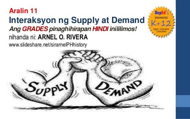 Aralin 11 Interaksyon ng Supply at Demand Ang GRADES pinaghihirapan HINDI inililimos! nihanda ni: ARNEL O. RIVERA www.slid...