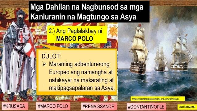 #SIBILISASYON #PAG-UNLAD #KONTRIBUSYON#KABIHASNAN 2ND GRADING 2.) Ang Paglalakbay ni MARCO POLO DULOT: ➢ Maraming adbentur...
