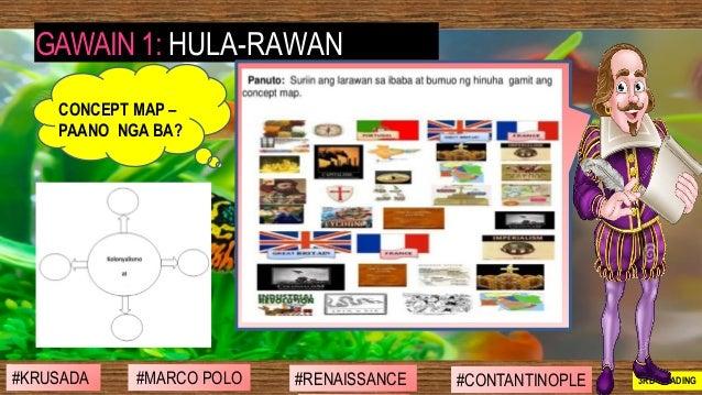 #SIBILISASYON #PAG-UNLAD #KONTRIBUSYON#KABIHASNAN 2ND GRADING GAWAIN 1: HULA-RAWAN CONCEPT MAP – PAANO NGA BA? #MARCO POLO...