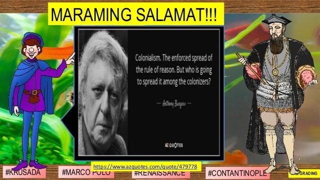 MARAMING SALAMAT!!! #SIBILISASYON #PAG-UNLAD #KONTRIBUSYON#KABIHASNAN 2ND GRADING#MARCO POLO #RENAISSANCE #CONTANTINOPLE#K...