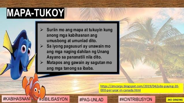 ➢ Suriin mo ang mapa at tukuyin kung anong mga kabihasnan ang umusbong at umunlad dito. ➢ Sa iyong pagsusuri ay unawain mo...