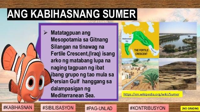 ➢ Matatagpuan ang Mesopotamia sa Gitnang Silangan na tinawag na Fertile Crescent,(Iraq) isang arko ng matabang lupa na nag...