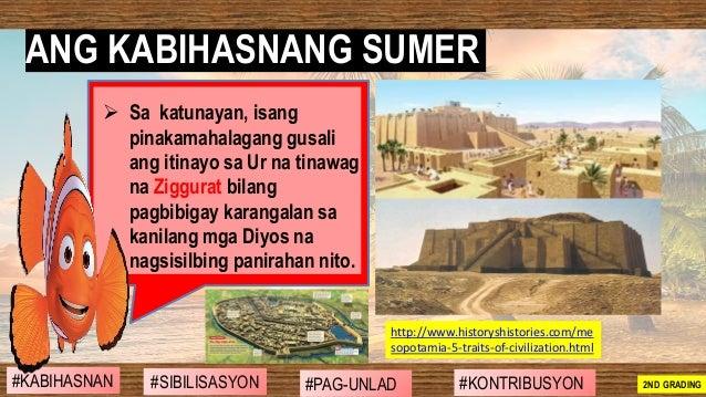 ➢ Sa katunayan, isang pinakamahalagang gusali ang itinayo sa Ur na tinawag na Ziggurat bilang pagbibigay karangalan sa kan...