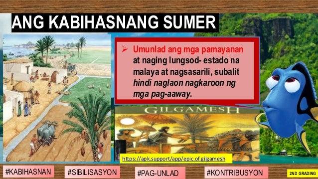ANG KABIHASNANG SUMER #SIBILISASYON #PAG-UNLAD #KONTRIBUSYON#KABIHASNAN 2ND GRADING ➢ Umunlad ang mga pamayanan at naging ...