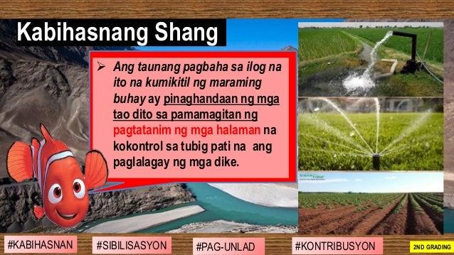 ➢ Ang taunang pagbaha sa ilog na ito na kumikitil ng maraming buhay ay pinaghandaan ng mga tao dito sa pamamagitan ng pagt...