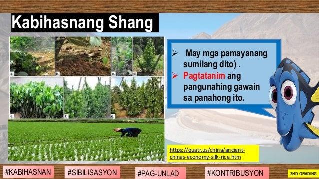 ➢ May mga pamayanang sumilang dito) . ➢ Pagtatanim ang pangunahing gawain sa panahong ito. https://quatr.us/china/ancient-...