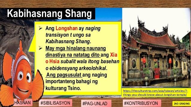 ➢ Ang Longshan ay naging transisyon t ungo sa Kabihasnang Shang. ➢ May mga hinalang naunang dinastiya na natatag dito ang ...