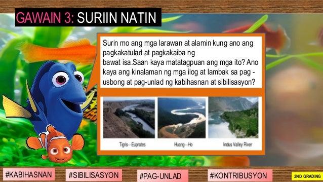 #SIBILISASYON #PAG-UNLAD #KONTRIBUSYON#KABIHASNAN 2ND GRADING GAWAIN 3: SURIIN NATIN Surin mo ang mga larawan at alamin ku...