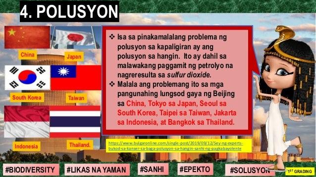 #SOLUSYON#EPEKTO#SANHI#BIODIVERSITY 1ST GRADING#LIKAS NA YAMAN 4. POLUSYON https://www.bulgaronline.com/single-post/2019/0...
