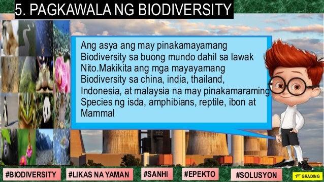 #SOLUSYON#EPEKTO#SANHI#BIODIVERSITY 1ST GRADING#LIKAS NA YAMAN 5. PAGKAWALA NG BIODIVERSITY Ang asya ang may pinakamayaman...