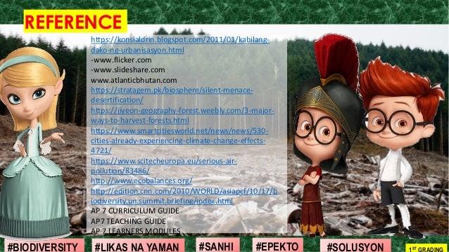 #SOLUSYON#EPEKTO#SANHI#BIODIVERSITY 1ST GRADING#LIKAS NA YAMAN REFERENCE https://konsialdrin.blogspot.com/2011/01/kabilang...