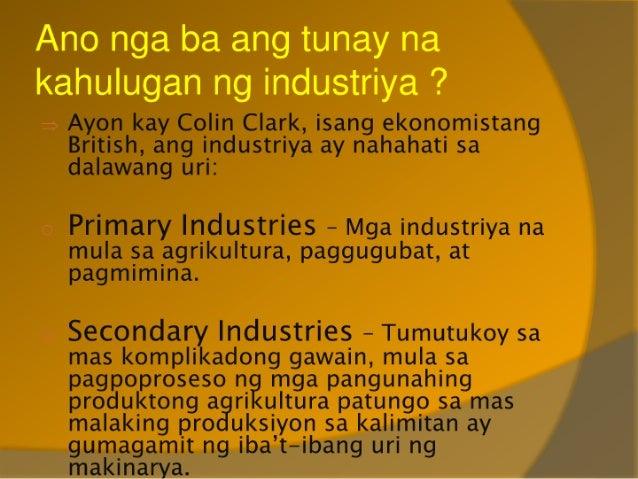 Aralin 27 - Papel ng Sektor ng Industriya sa Kaunlaran Slide 3