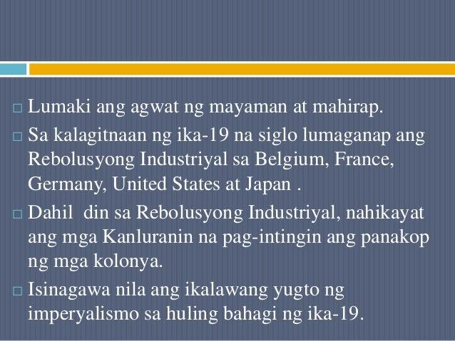  Lumaki ang agwat ng mayaman at mahirap.  Sa kalagitnaan ng ika-19 na siglo lumaganap ang Rebolusyong Industriyal sa Bel...