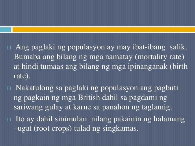  Ang paglaki ng populasyon ay may ibat-ibang salik. Bumaba ang bilang ng mga namatay (mortality rate) at hindi tumaas ang...
