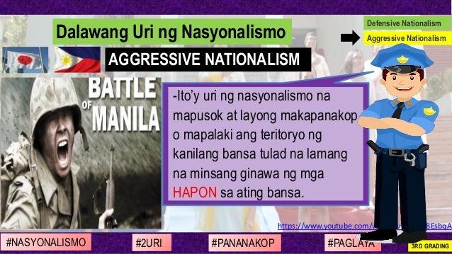 https://www.youtube.com/watch?v=qd-G48EsbqA -Ito'y uri ng nasyonalismo na mapusok at layong makapanakop o mapalaki ang ter...