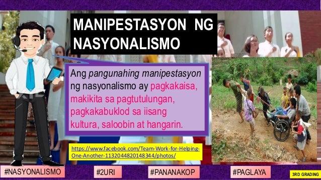https://www.facebook.com/Team-Work-for-Helping- One-Another-1132044820148344/photos/ Ang pangunahing manipestasyon ng nasy...
