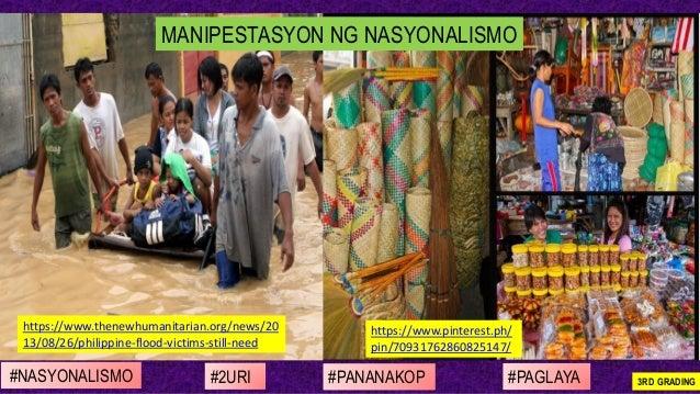 #NASYONALISMO #PAGLAYA#2URI #PANANAKOP 3RD GRADING https://www.thenewhumanitarian.org/news/20 13/08/26/philippine-flood-vi...