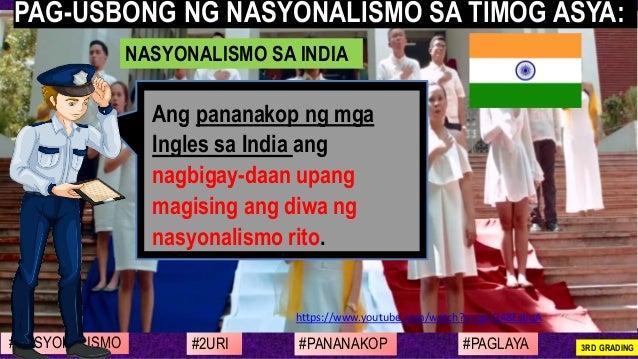 #NASYONALISMO #PAGLAYA#2URI #PANANAKOP 3RD GRADING https://www.youtube.com/watch?v=qd-G48EsbqA Ang pananakop ng mga Ingles...
